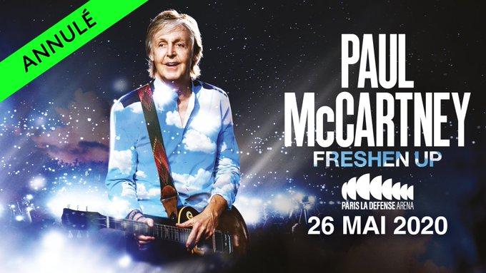 Paul McCartney ne viendra pas à Bordeaux — Coronavirus